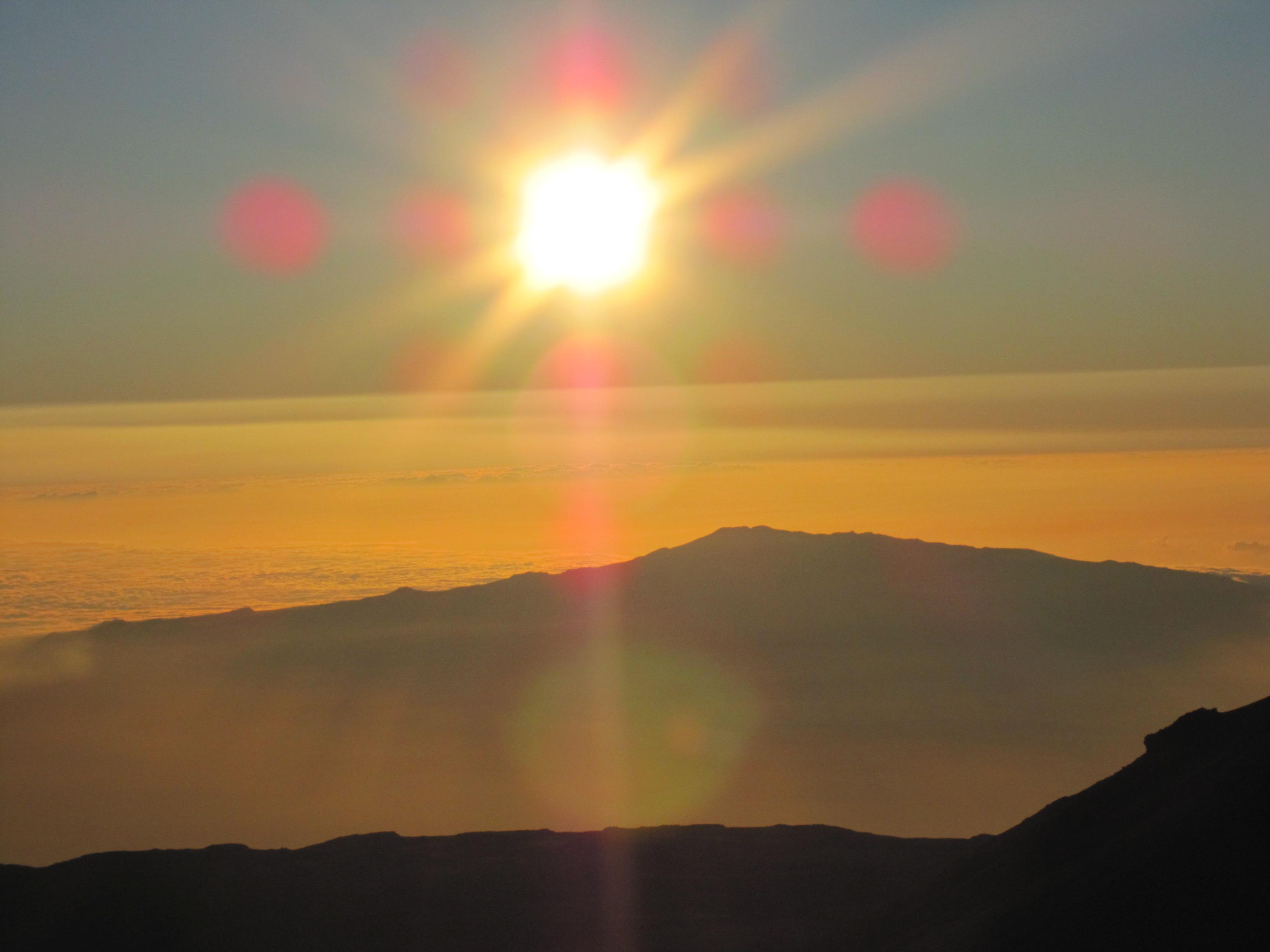 1ハワイ島マウナケア夕陽 (323)