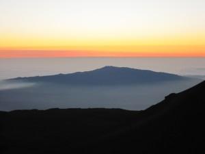 3ハワイ島マウナケア夕陽 (375)