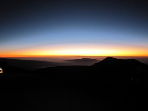 4ハワイ島マウナケア夕陽 (394)