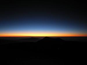 5ハワイ島マウナケア夕陽 (398)