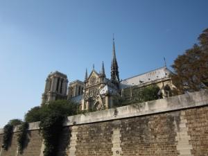 パリ セーヌ川よりノートルダム寺院④